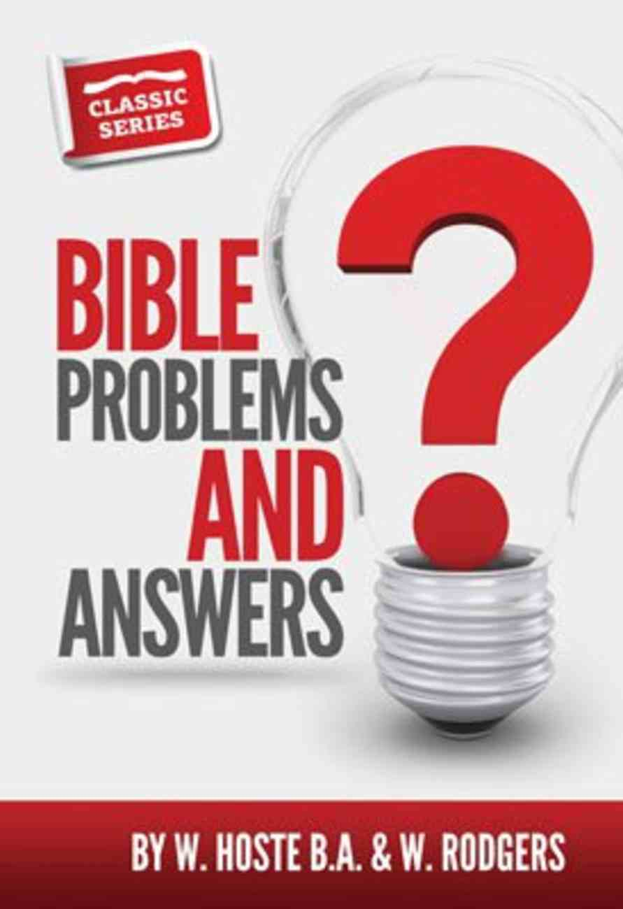 Bible Problems and Answers (Classic Re-print Series) Paperback