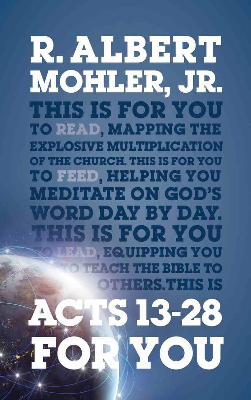 Acts 13-28 For You (God's Word For You Series) Paperback