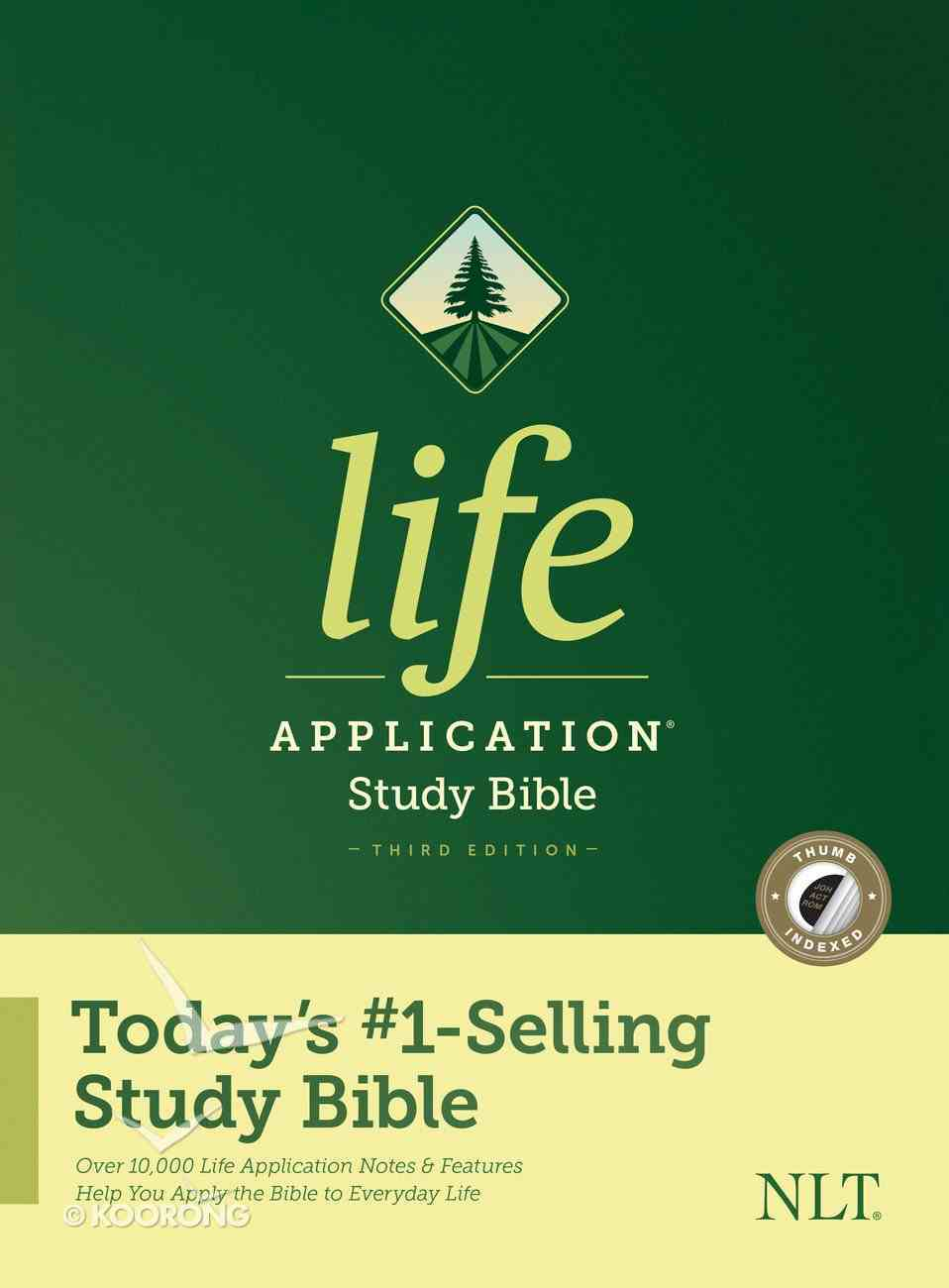 NLT Life Application Study Bible 3rd Edition Indexed (Black Letter Edition) Hardback