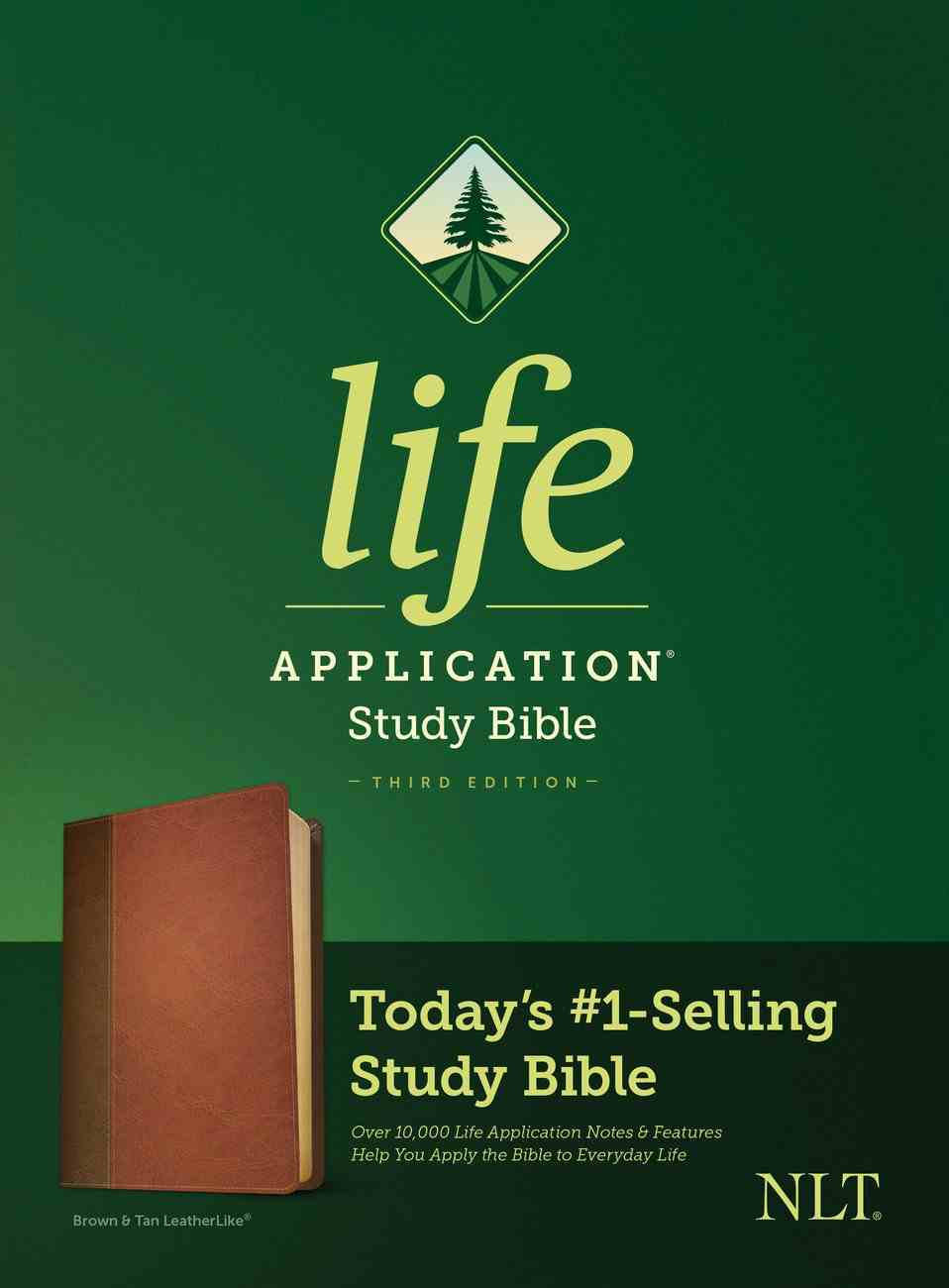 NLT Life Application Study Bible 3rd Edition Brown/Tan (Black Letter Edition) Imitation Leather