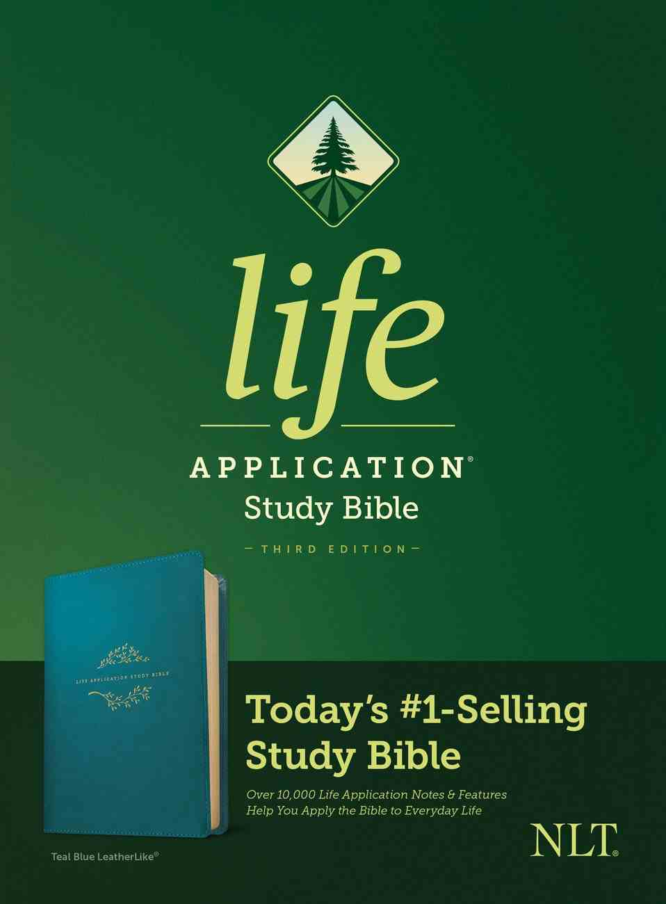 NLT Life Application Study Bible 3rd Edition Teal Blue (Black Letter Edition) Imitation Leather