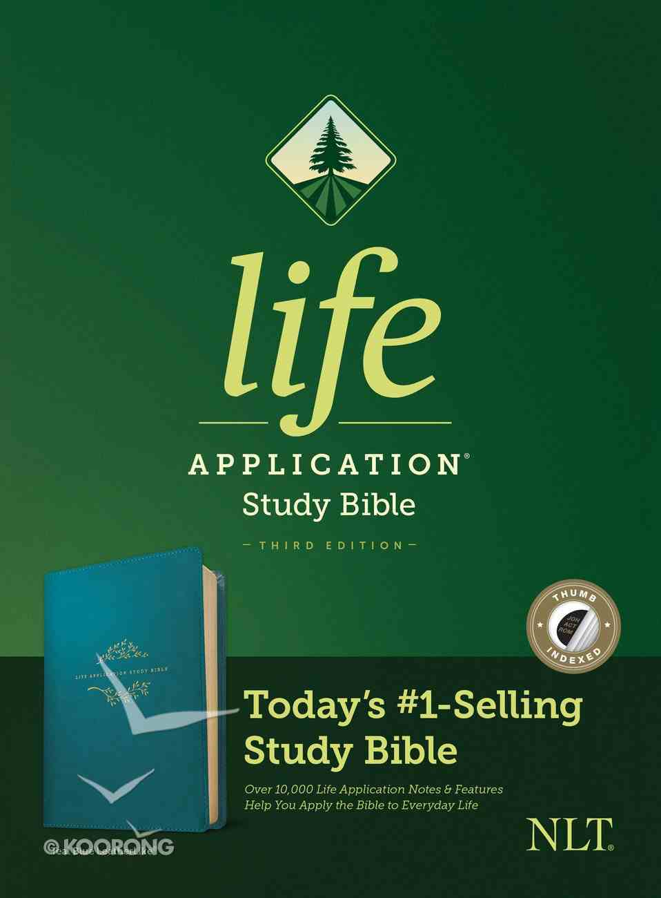 NLT Life Application Study Bible 3rd Edition Teal Blue Indexed (Black Letter Edition) Imitation Leather