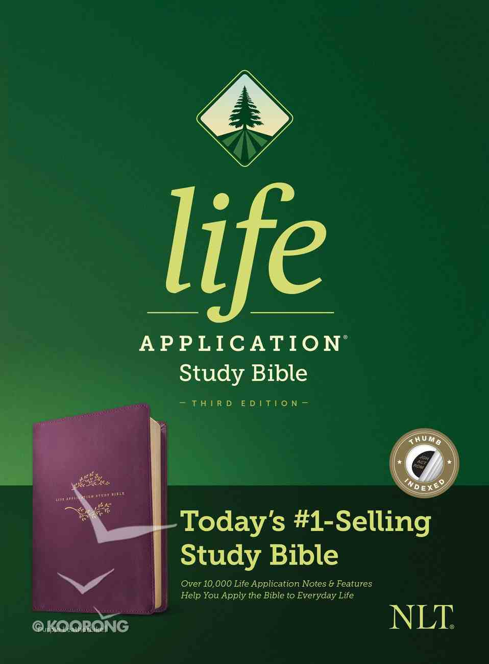 NLT Life Application Study Bible 3rd Edition Purple Indexed (Black Letter Edition) Imitation Leather