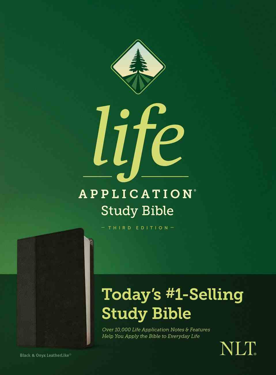 NLT Life Application Study Bible 3rd Edition Black/Onyx (Black Letter Edition) Imitation Leather