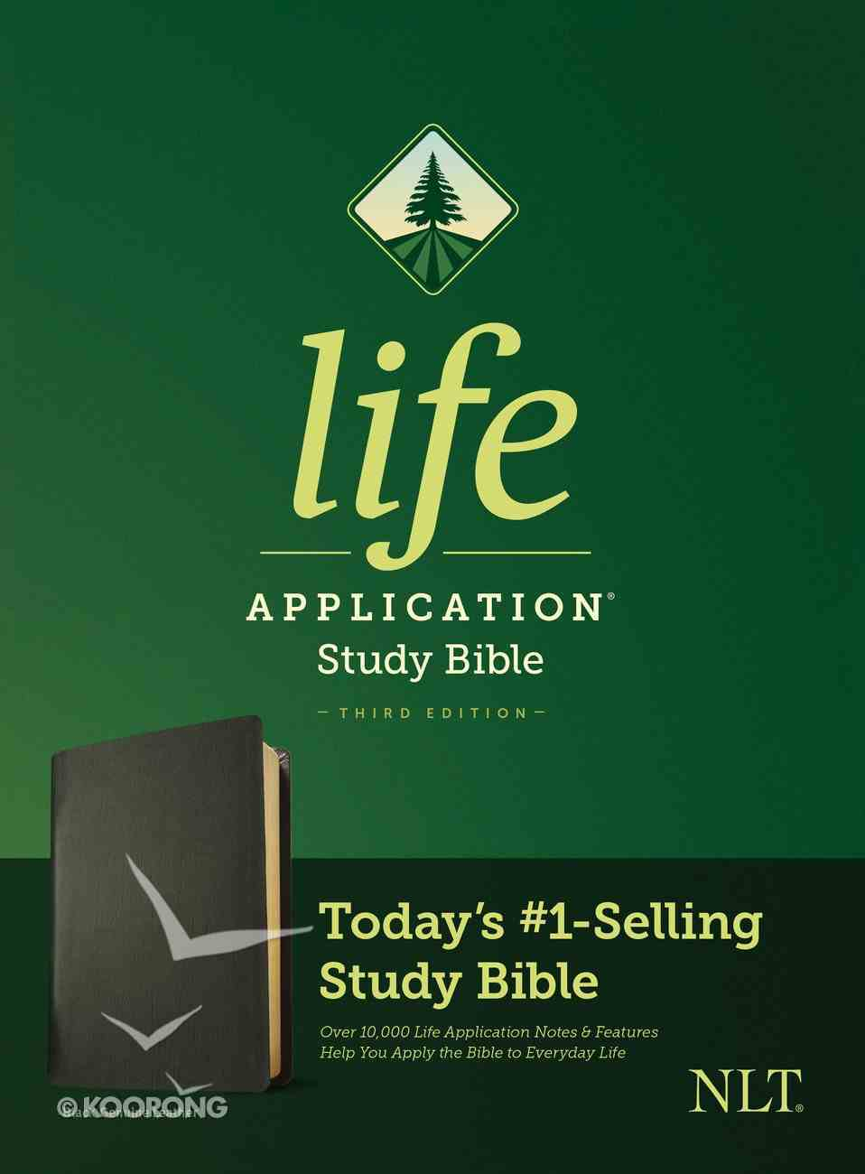 NLT Life Application Study Bible 3rd Edition Black (Black Letter Edition) Genuine Leather
