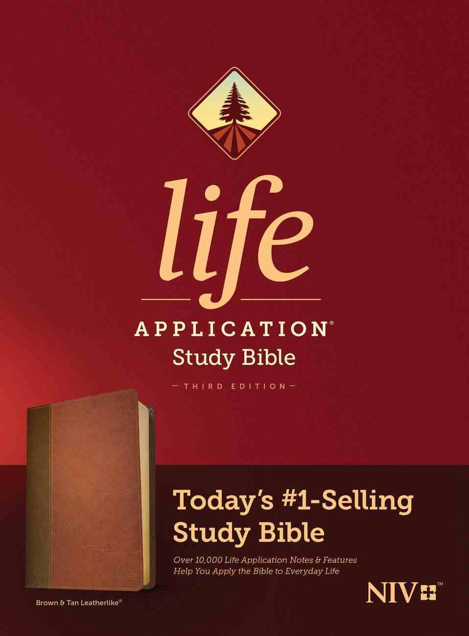 NIV Life Application Study Bible 3rd Edition Brown/Mahogany (Black Letter Edition) Imitation Leather