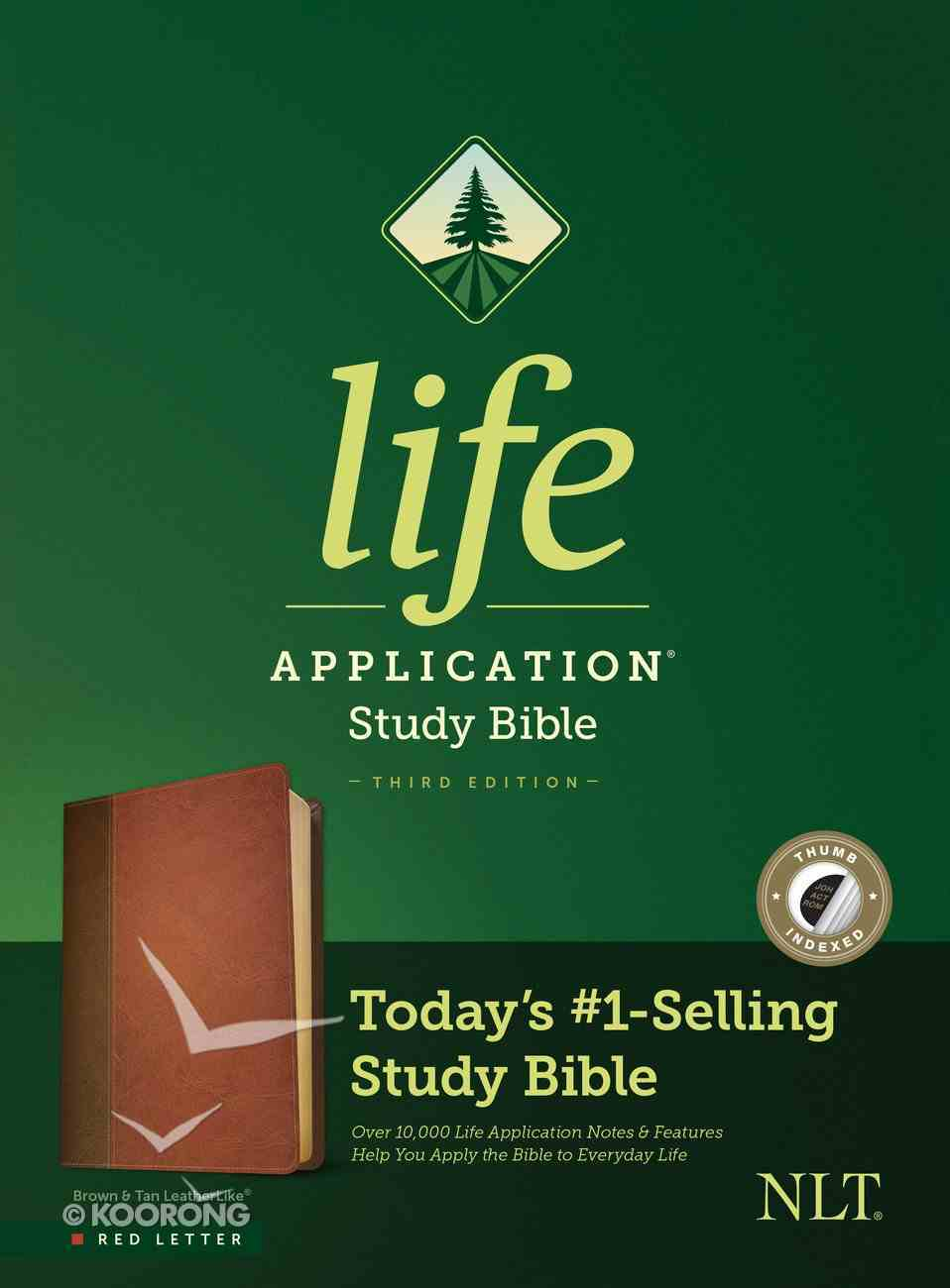 NLT Life Application Study Bible 3rd Edition Brown/Tan Indexed (Red Letter Edition) Imitation Leather