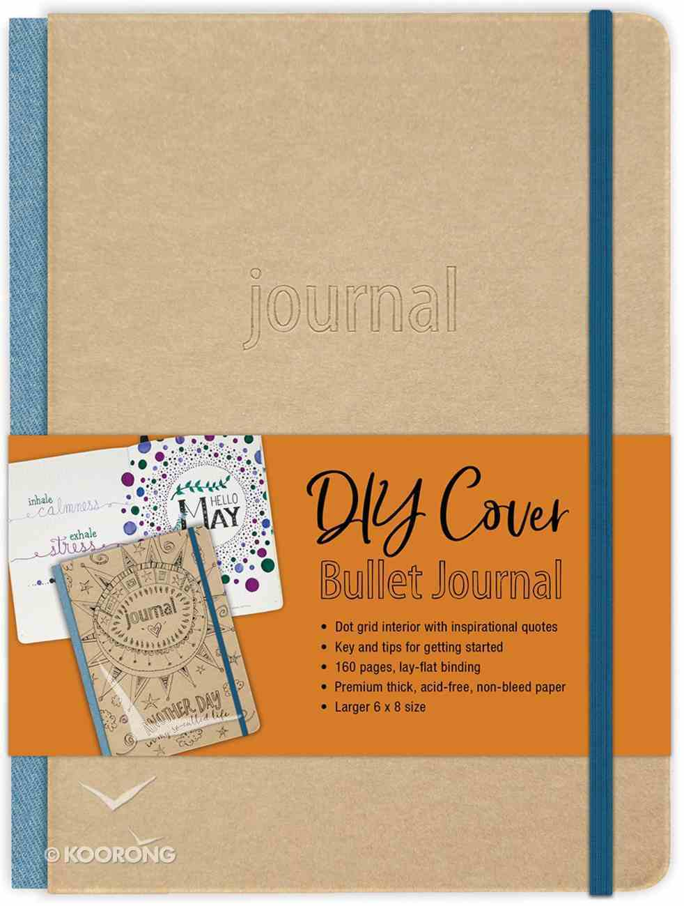 Bullet Journal: Diy Cover With Elastic Band Fabric