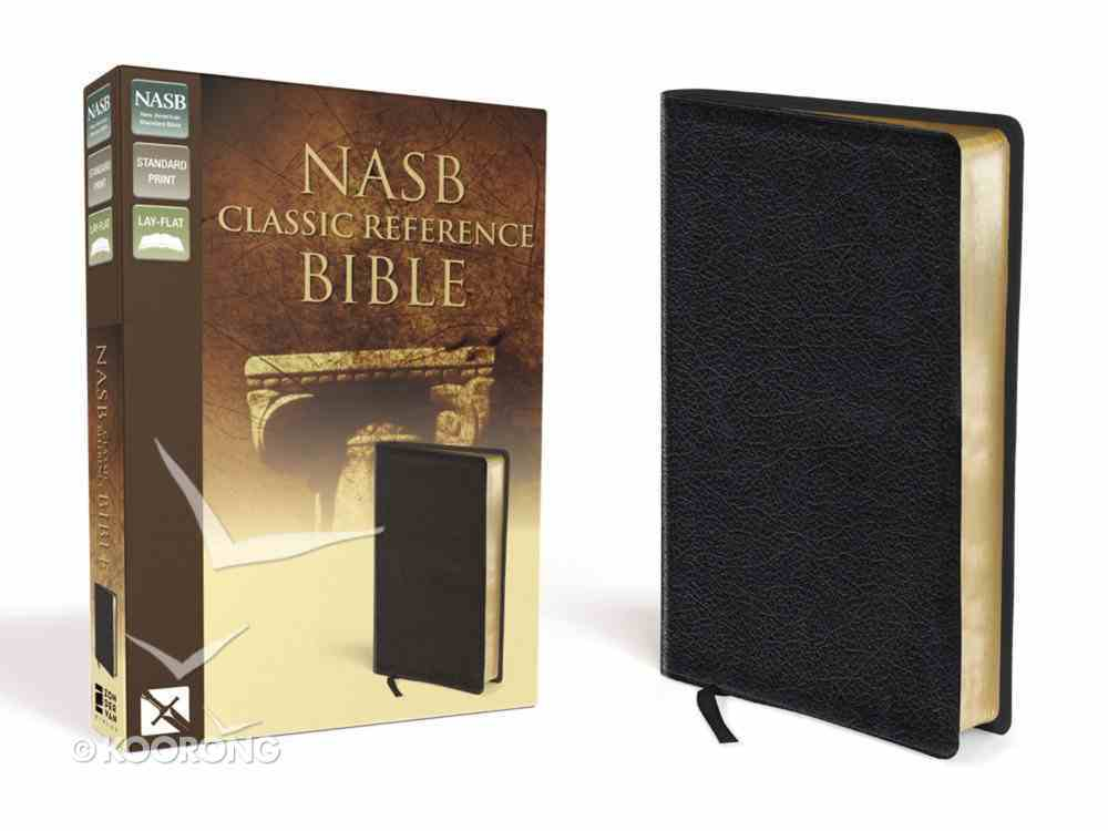 NASB Updated Edition Classic Reference Bible Black (Red Letter Edition) Genuine Leather