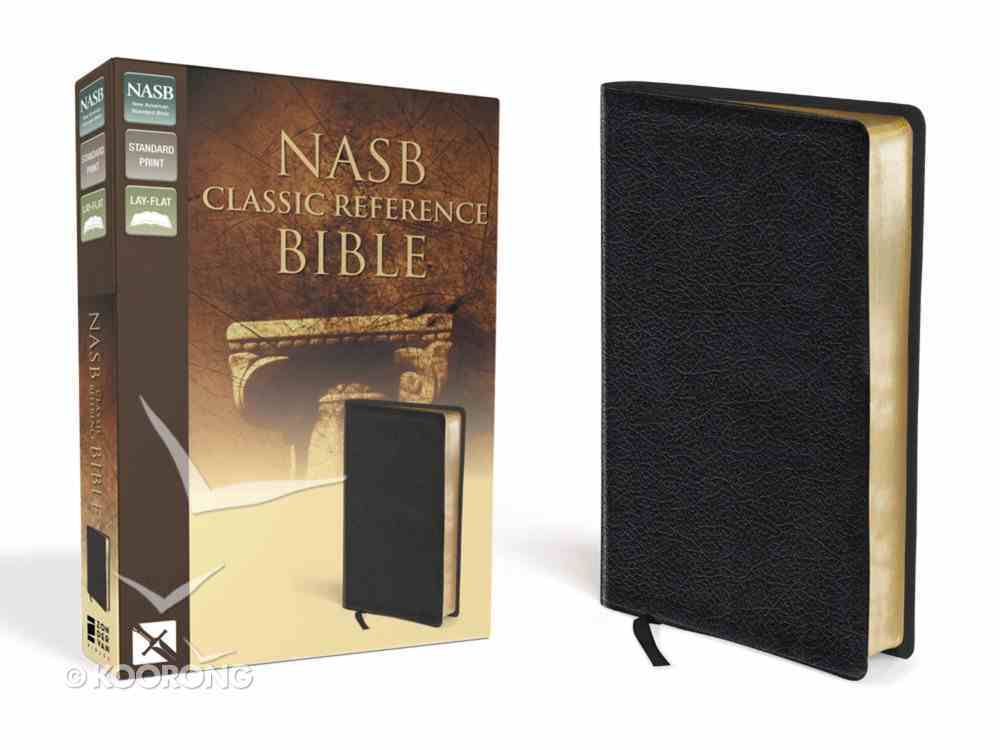 NASB Updated Edition Classic Reference Bible Black (Red Letter Edition) Bonded Leather