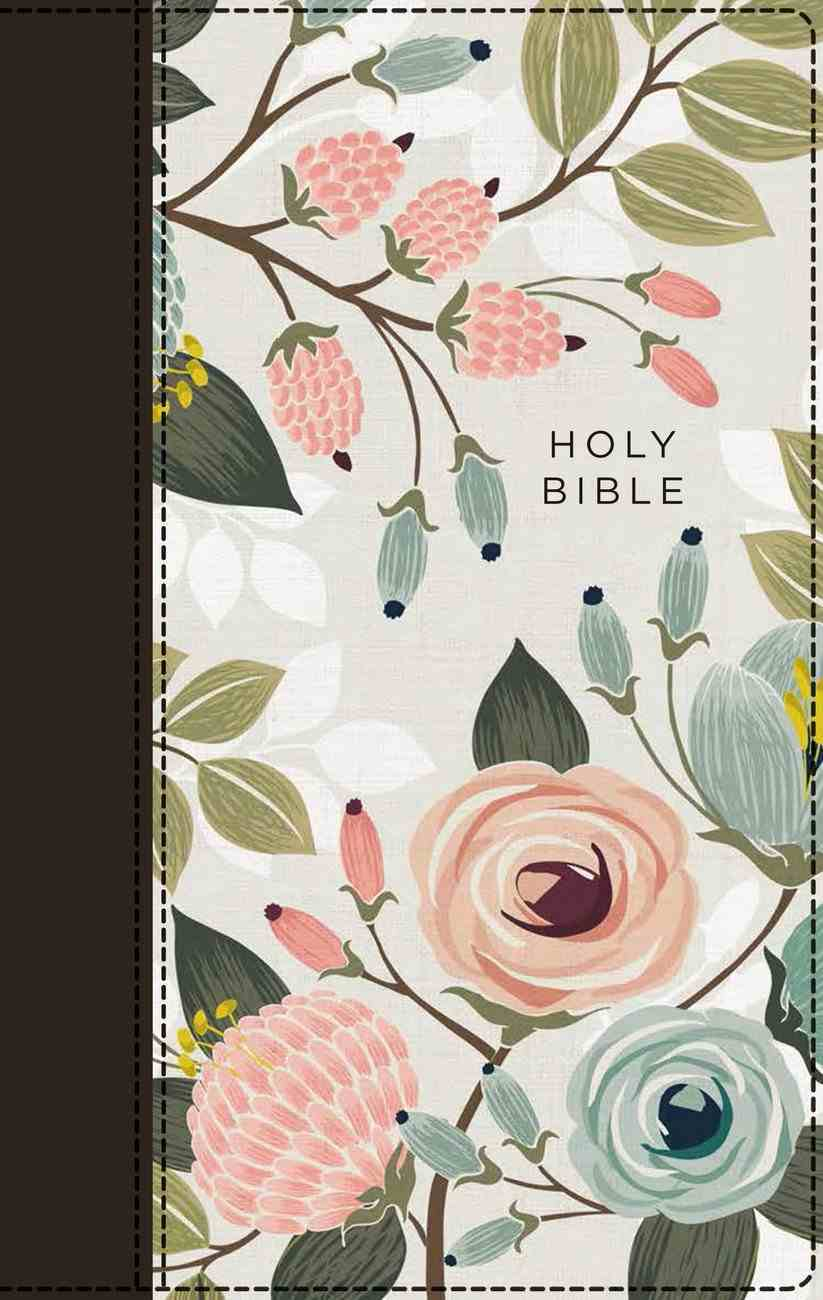 NIV Thinline Bible Floral (Red Letter Edition) Fabric Over Hardback