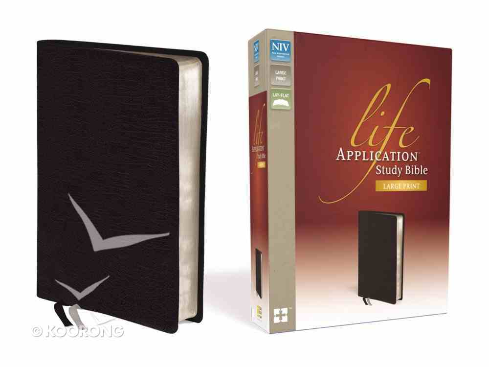 NIV Life Application Study Bible Large Print Black (Red Letter Edition) Bonded Leather