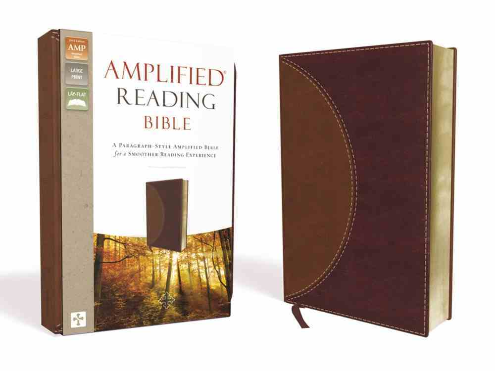 Amplified Reading Bible Brown (Black Letter Edition) Premium Imitation Leather