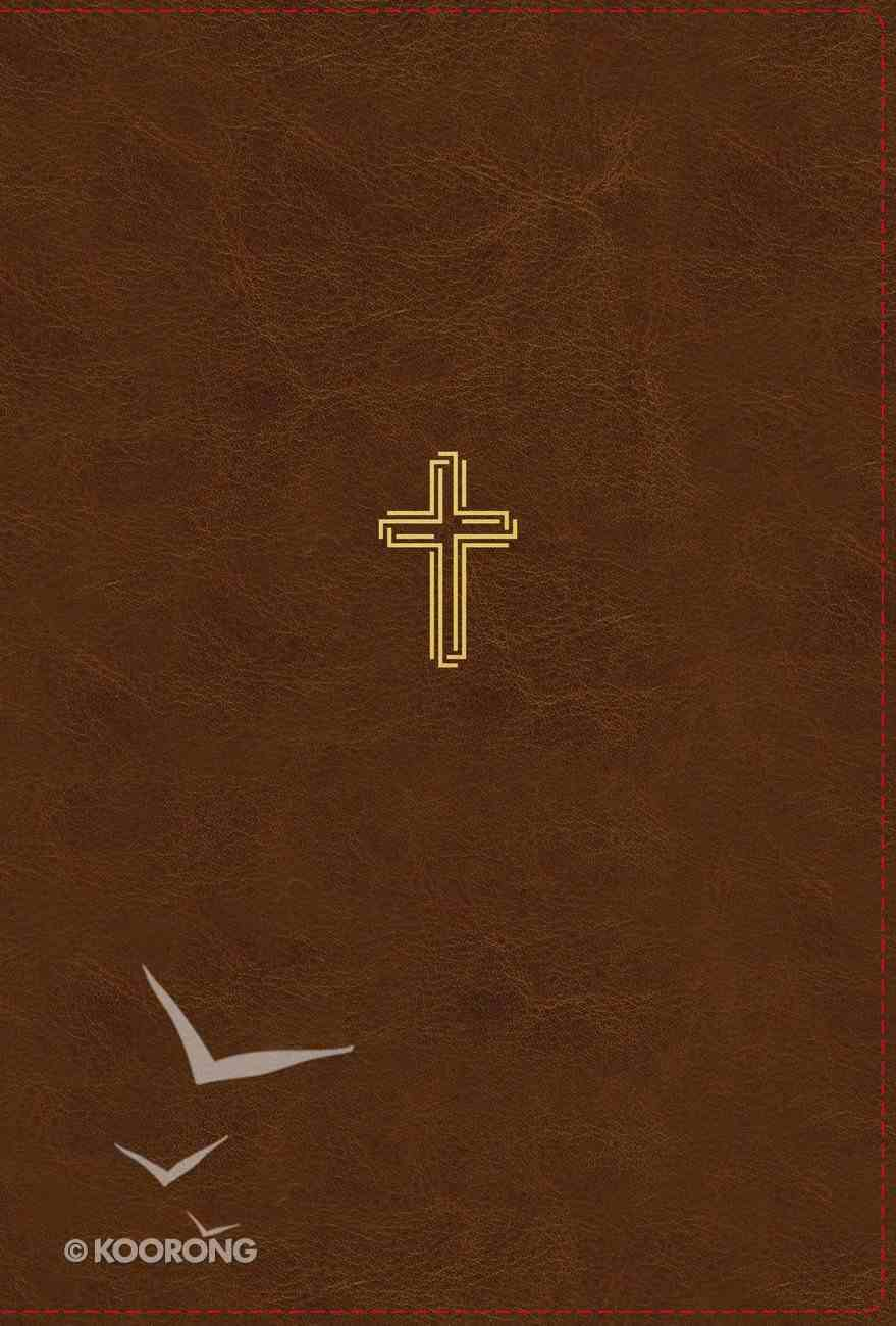 NASB Thinline Bible Giant Print Brown 1995 Text (Red Letter Edition) Premium Imitation Leather