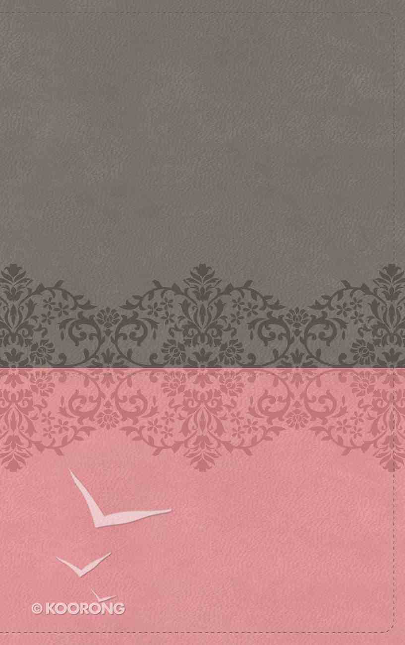 NIV Life Application Study Bible 3rd Edition Indexed Gray/Pink (Red Letter Edition) Premium Imitation Leather