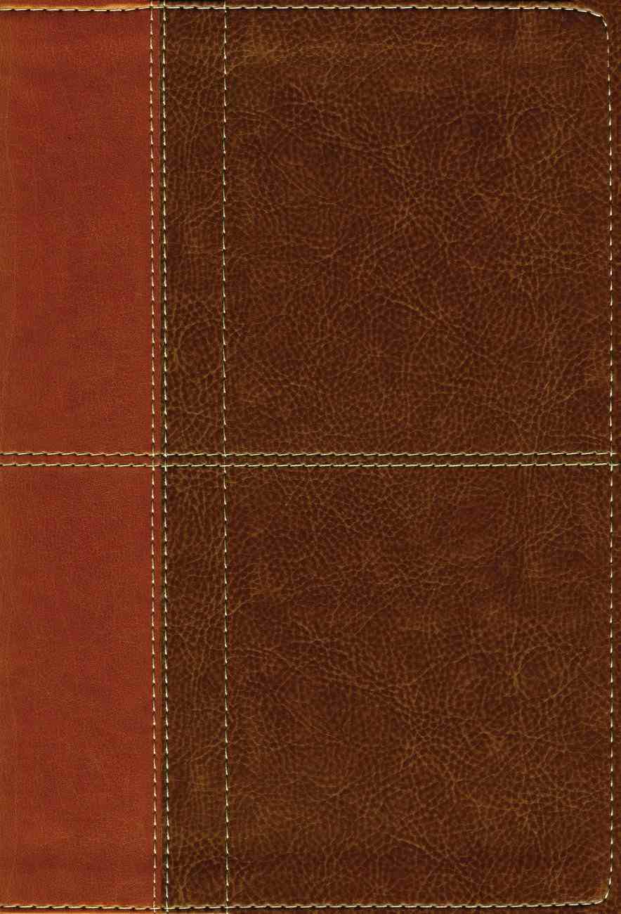 NIV Life Application Study Bible Third Edition Large Print Brown Indexed (Red Letter Edition) Premium Imitation Leather
