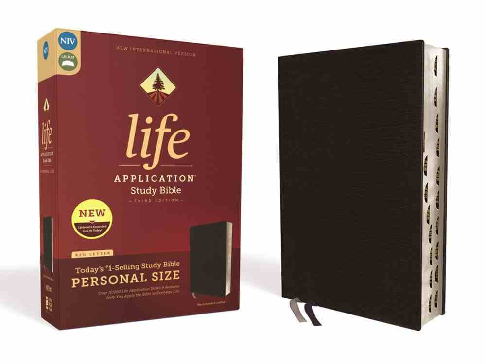 NIV Life Application Study Bible Third Edition Personal Size Black Indexed (Red Letter Edition) Bonded Leather