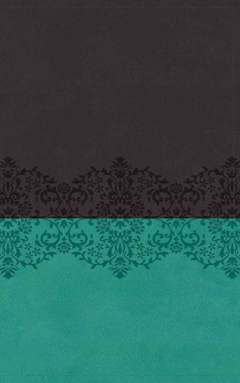 NIV Life Application Study Bible Third Edition Personal Size Gray/Teal (Red Letter Edition) Premium Imitation Leather
