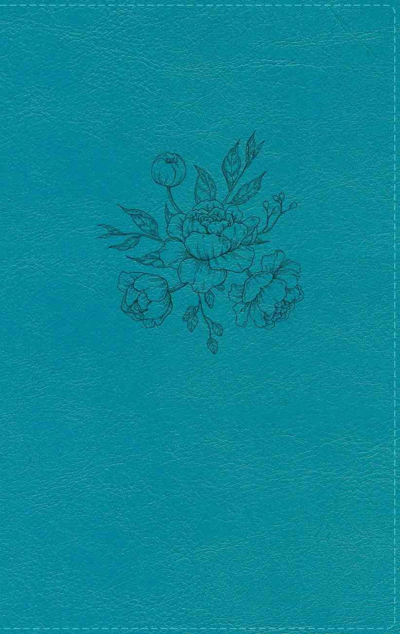 NIV Busy Mom's Bible Teal (Red Letter Edition) Premium Imitation Leather