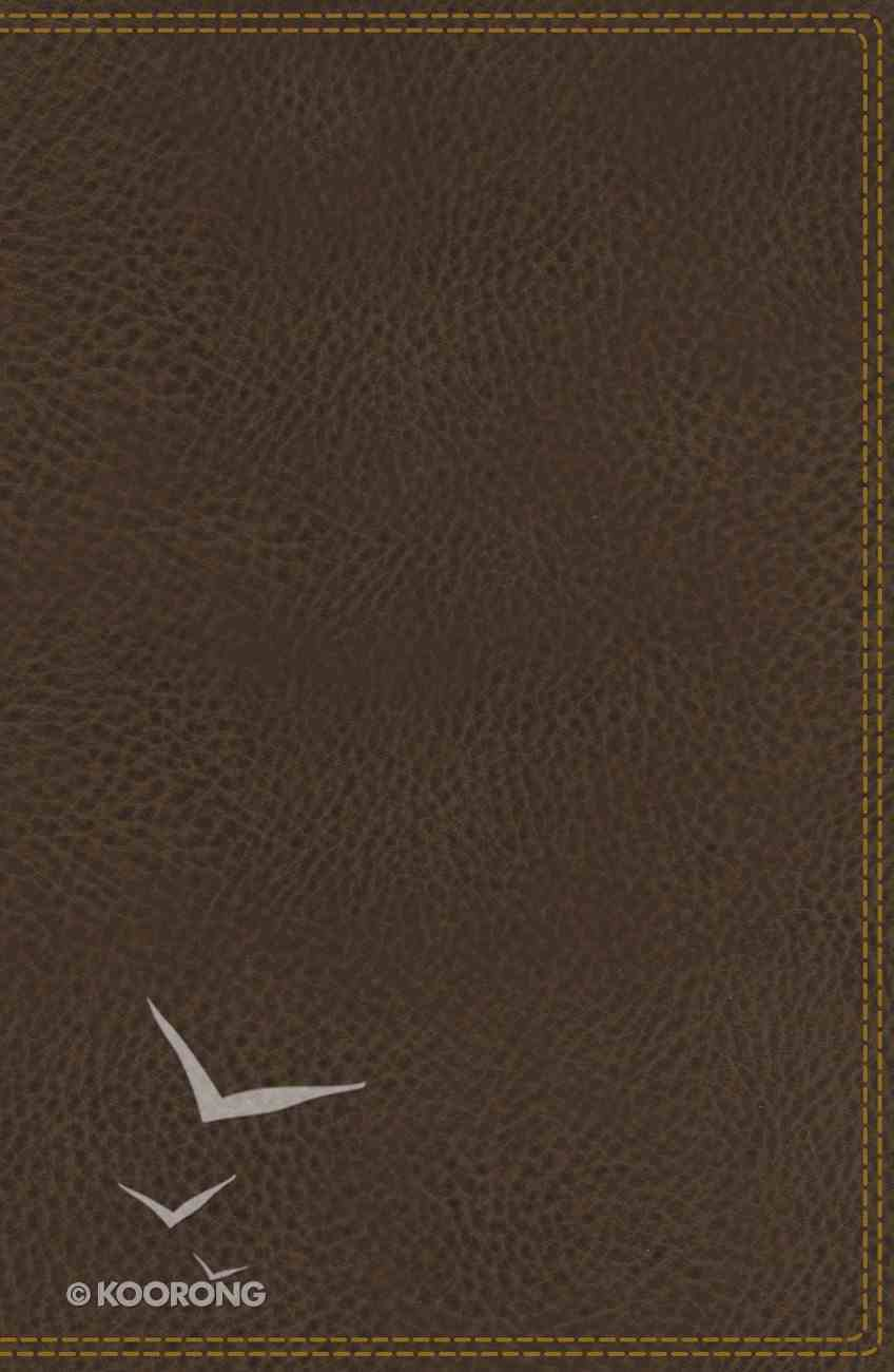 NIV Deluxe Reference Bible Brown (Black Letter Edition) Premium Imitation Leather