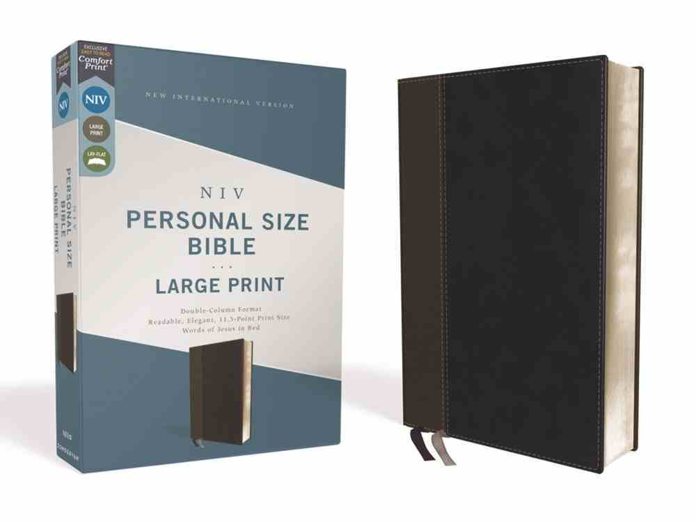 NIV Personal Size Bible Large Print Black (Red Letter Edition) Premium Imitation Leather