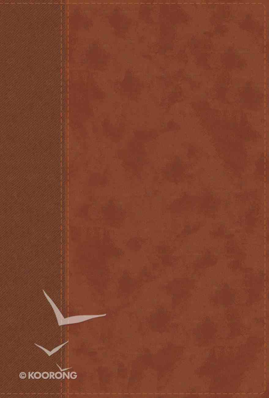NIV Personal Size Bible Large Print Brown (Red Letter Edition) Premium Imitation Leather