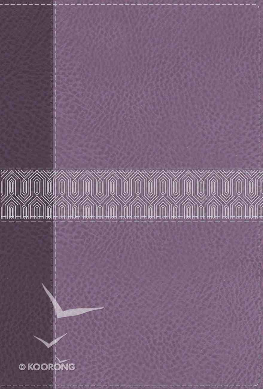 NIV Giant Print Compact Bible Purple (Red Letter Edition) Premium Imitation Leather