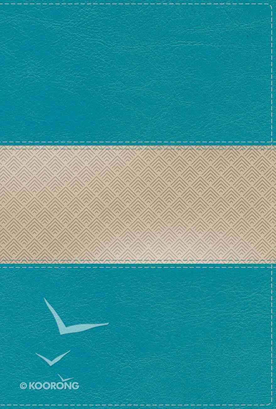 NIV Giant Print Compact Bible Teal (Red Letter Edition) Premium Imitation Leather