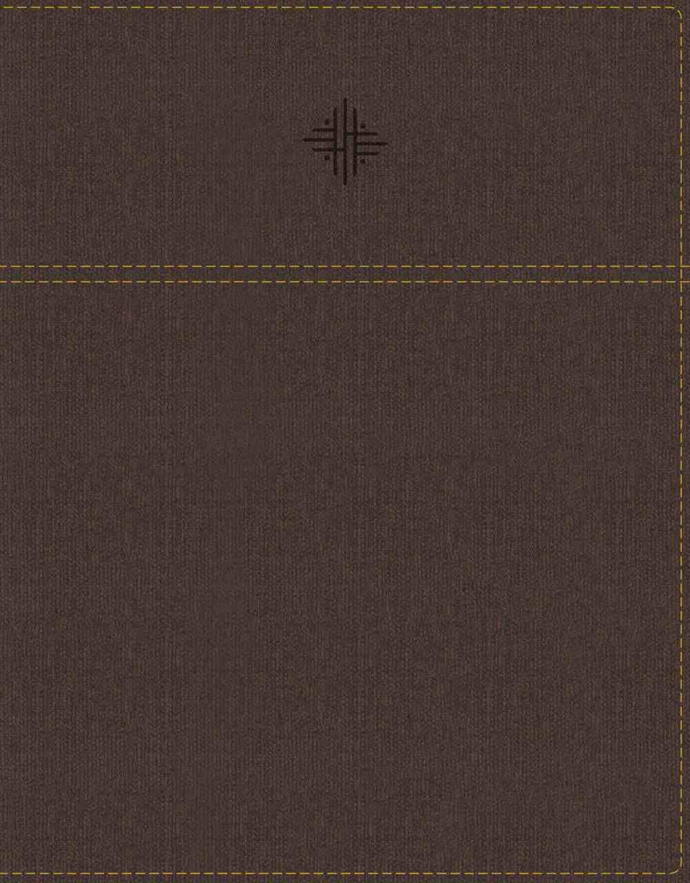 NRSV Journal the Word Bible With Apocrypha Brown Premium Imitation Leather
