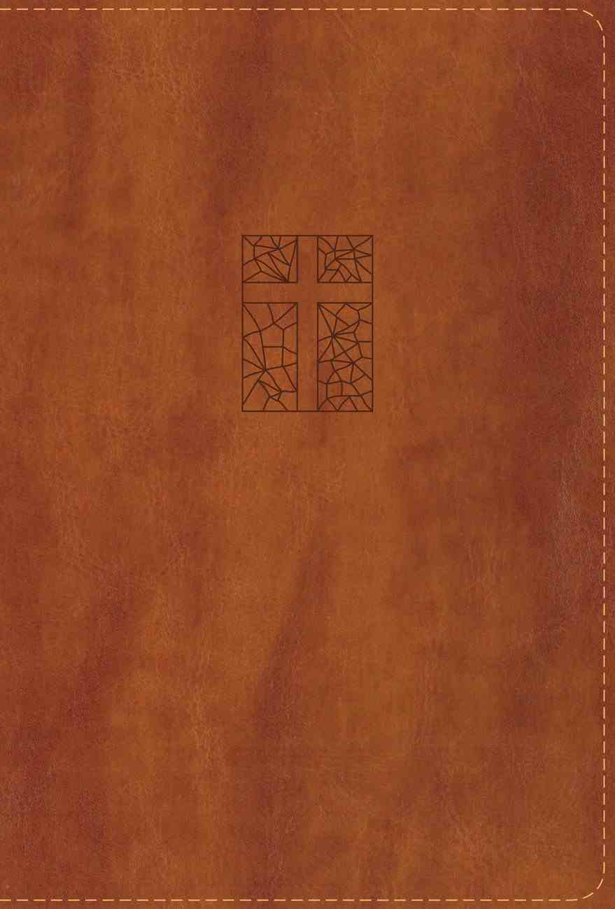 NRSV Single-Column Reference Bible Brown Premium Imitation Leather