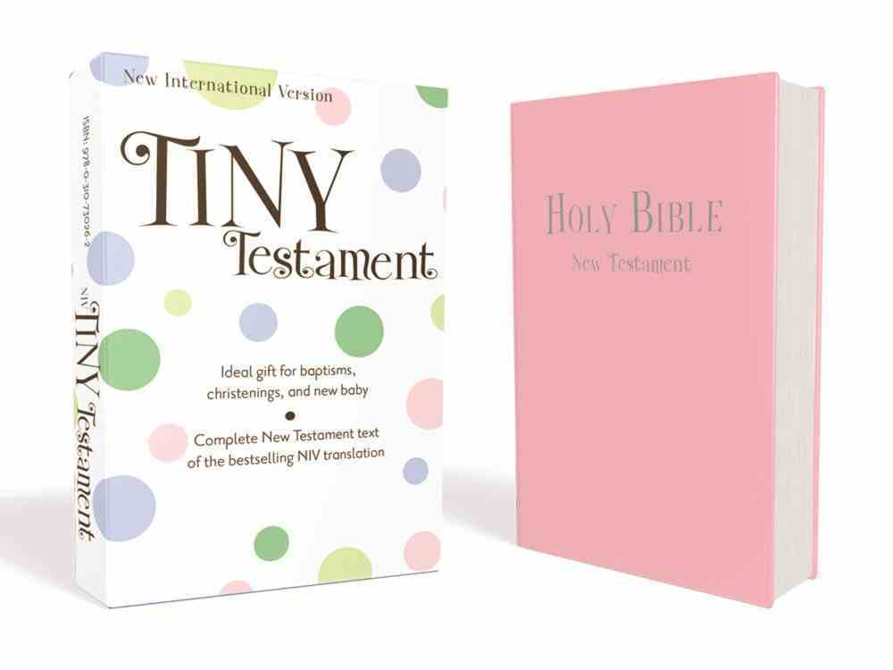 NIV Tiny Testament Bible Pink (Black Letter Edition) Imitation Leather