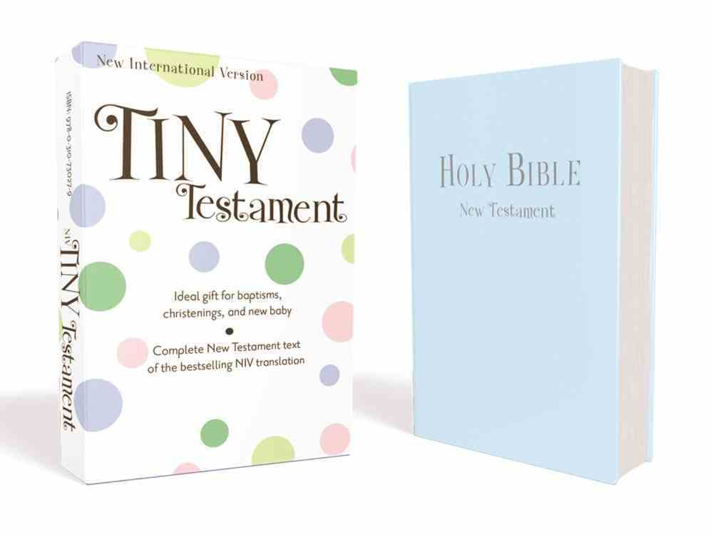 NIV Tiny Testament Bible Blue (Black Letter Edition) Imitation Leather