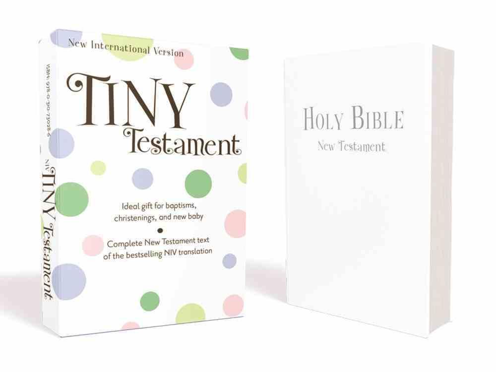 NIV Tiny Testament White (Black Letter Edition) Imitation Leather