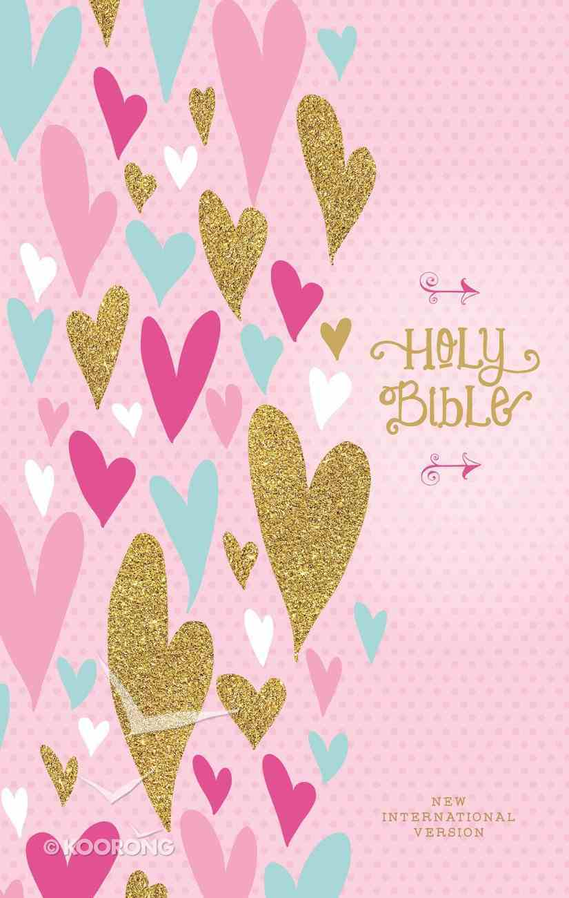 NIV Heart of Gold Holy Bible (Red Letter Edition) Hardback