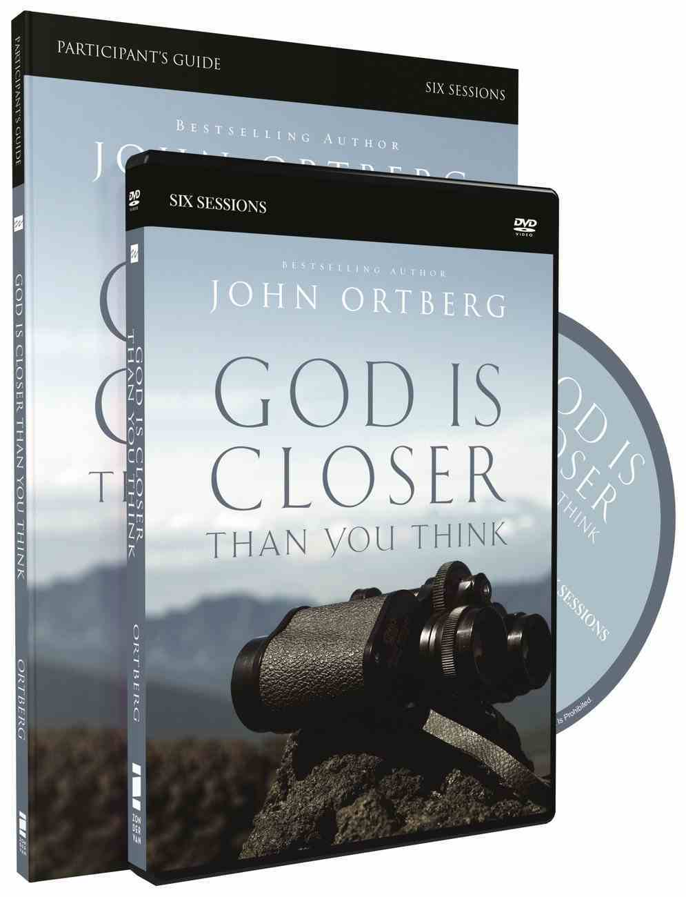 God is Closer Than You Think (Participant's Guide With Dvd) Paperback