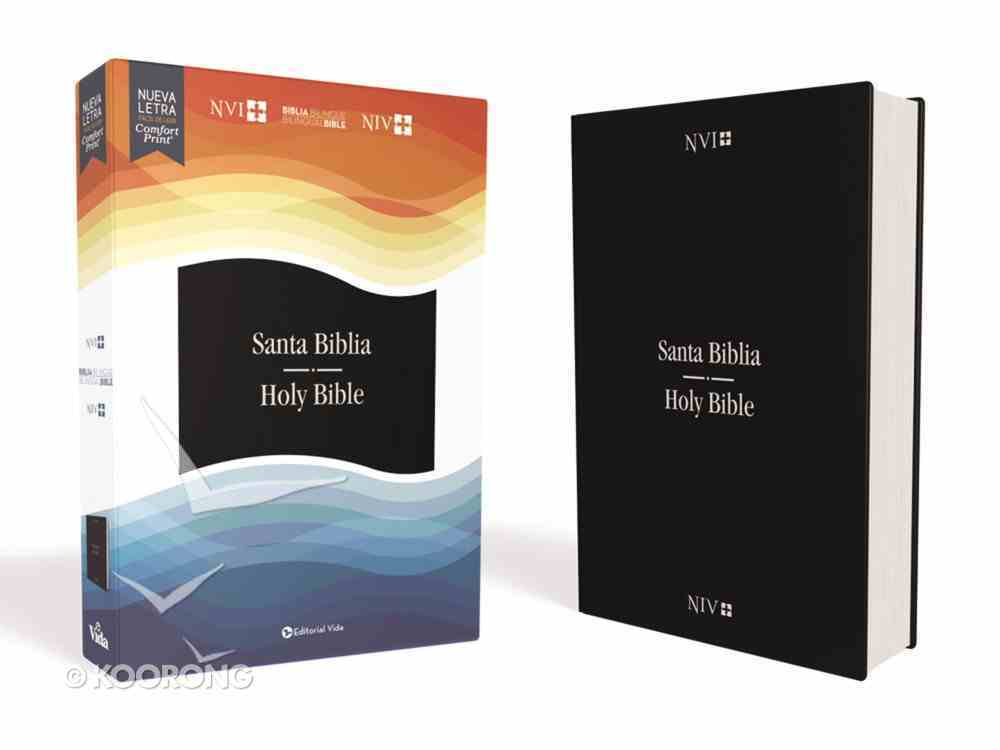 Nvi/Niv Biblia Bilingue Azul (Red Letter Edition) Imitation Leather