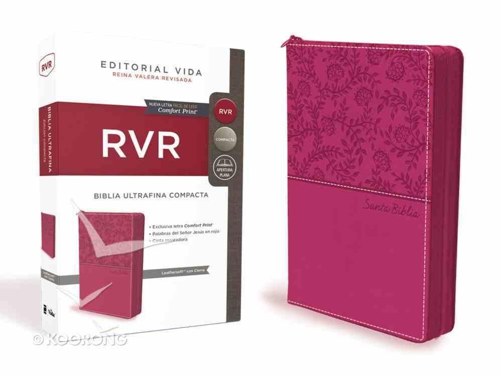 Rvr Santa Biblia Ultrafina Compacta Con Cierre (Red Letter Edition) Premium Imitation Leather