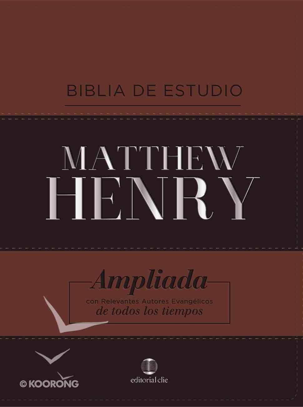 Rvr Biblia De Estudio Matthew Henry Clasica Con Indice Premium Imitation Leather