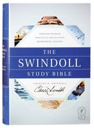 NLT Swindoll Study Bible (Black Letter Edition) Hardback