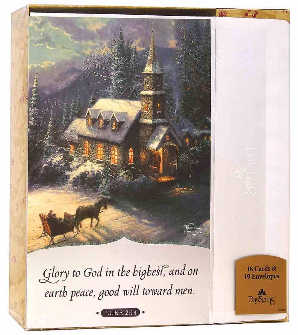 Christmas Boxed Cards: Thomas Kinkade Glory to God (Luke 2:14 Kjv) Box