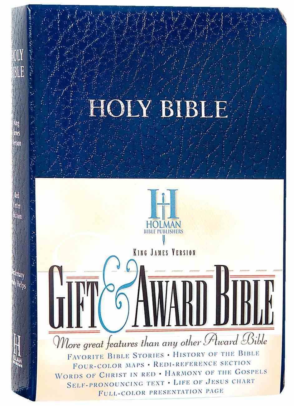 KJV Gift Award Bible Blue Imitation Leather