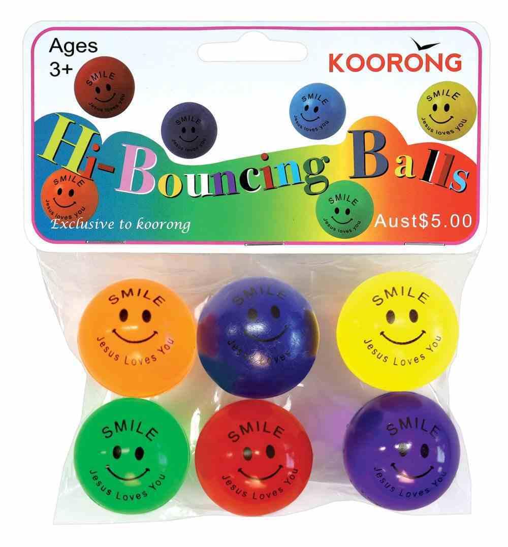 Bouncy Ball Pack of 6 Jesus Loves You (38mm Balls) Novelty