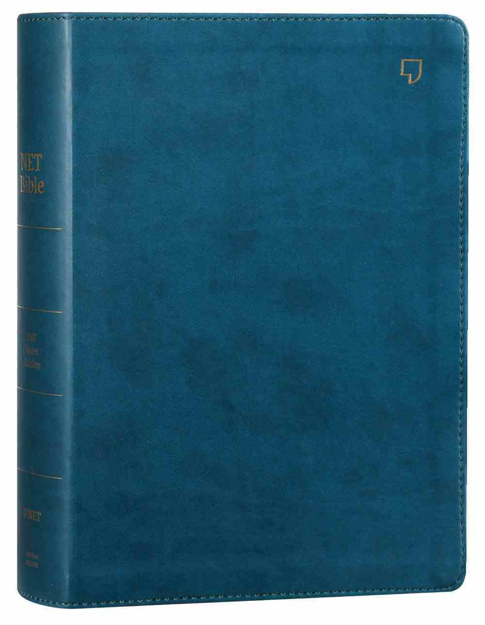 NET Bible Full-Notes Edition Teal (Black Letter Edition) Premium Imitation Leather