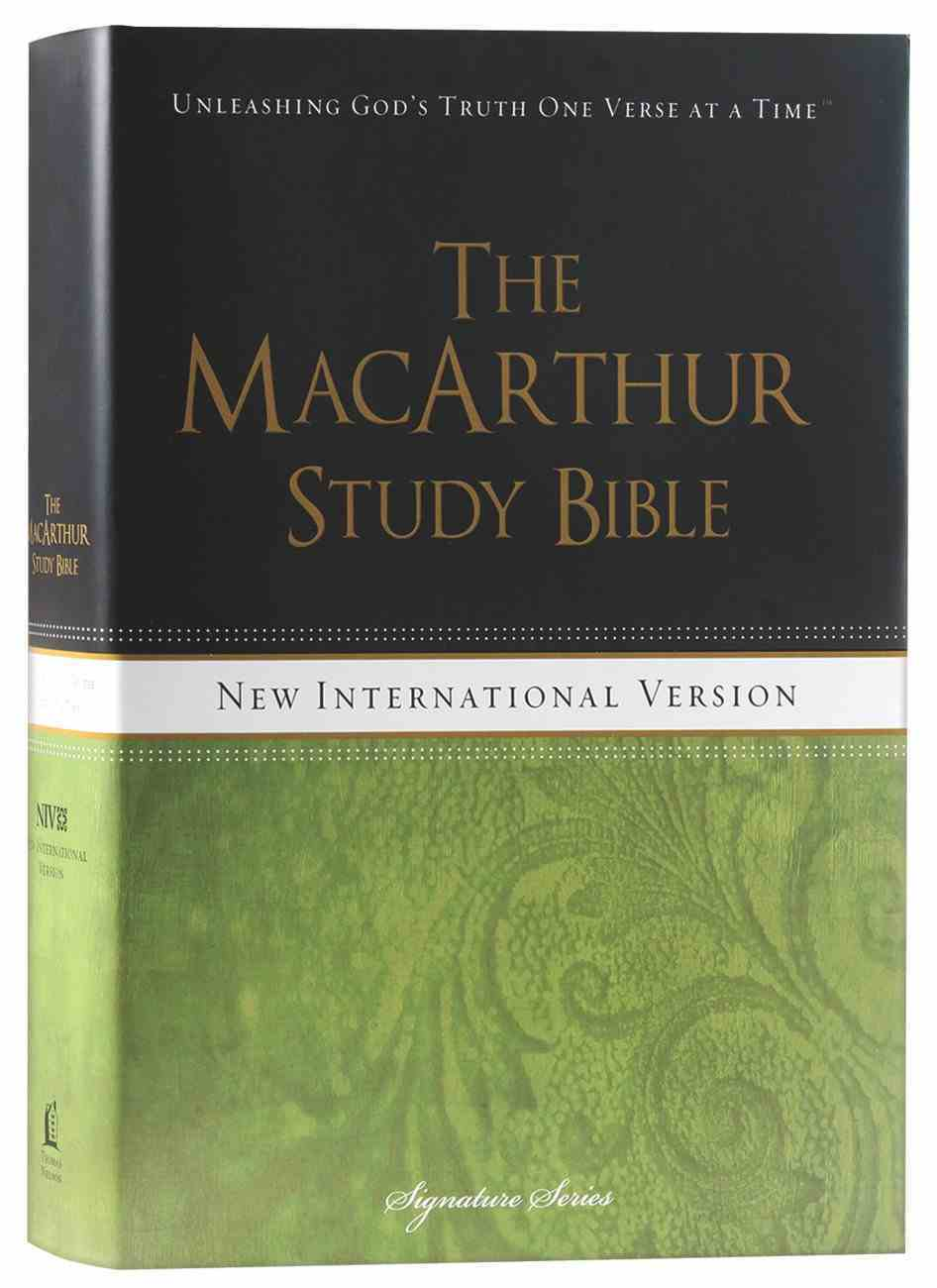 NIV Macarthur Study Bible Signature Series Hardback