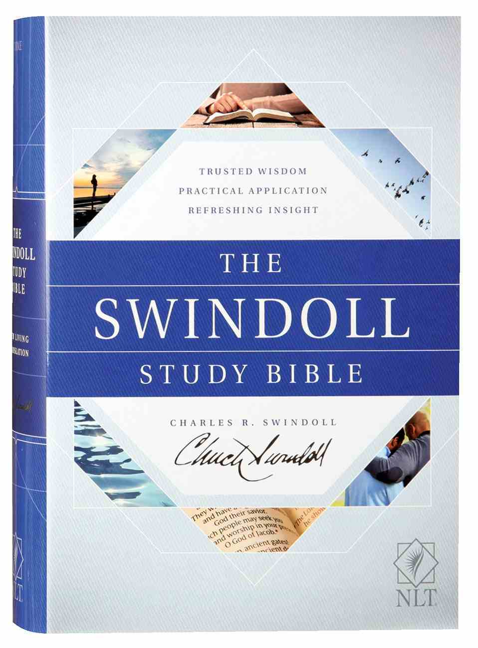NLT Swindoll Study Bible (Black Letter Edition) Hardback