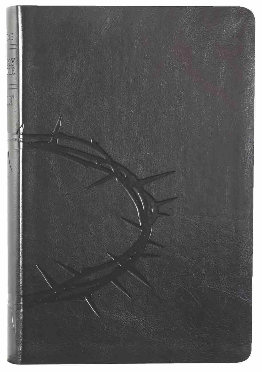 NLT Premium Value Large Print Slimline Bible Onyx Crown (Black Letter Edition) Imitation Leather
