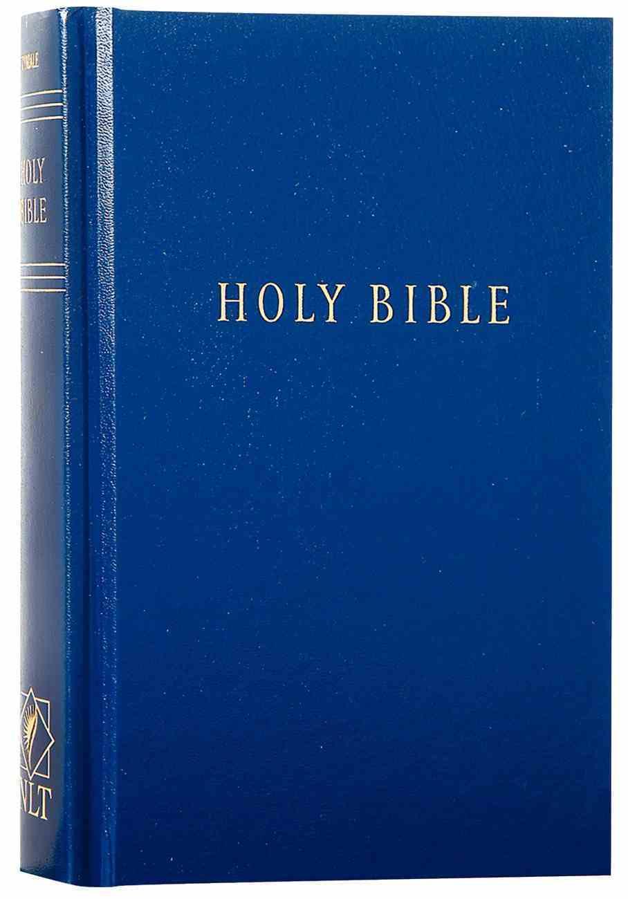 NLT Pew Bible Navy (Black Letter Edition) Hardback