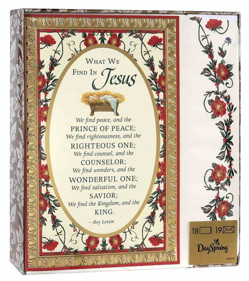 Christmas Premium Boxed Cards: What We Find in Jesus (Col 2:9) Cards