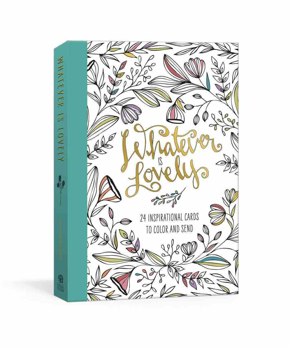 Whatever is Lovely Postcard Book: Twenty-Four Inspirational Cards to Color and Send Novelty Book