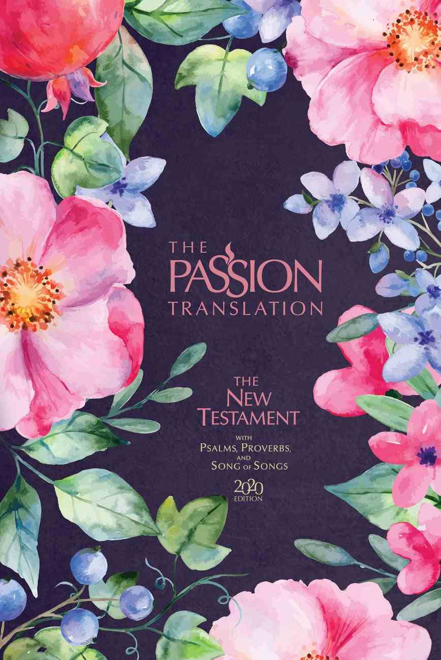 TPT New Testament With Psalms, Proverbs and Song of Songs Berry Blossom (Black Letter Edition) Fabric Over Hardback